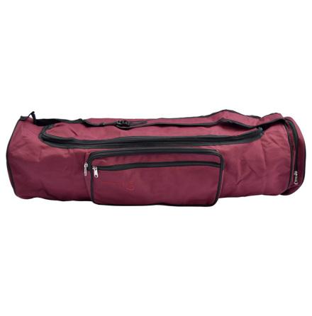 Väska för yogamatta i ull, 70 cm, VINRÖD