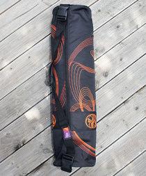 Väska för yogamatta Yin-Yang, Orange/svart